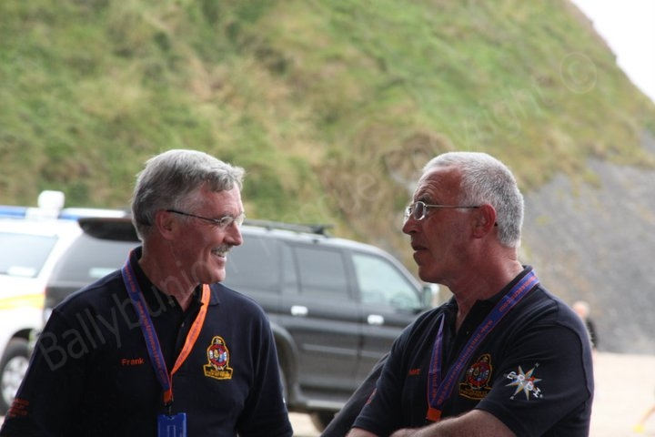 Two founding members sharing a laugh, Frank O Connor and Mike Flahive