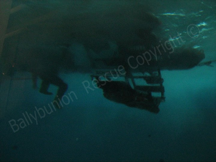 capsized under water